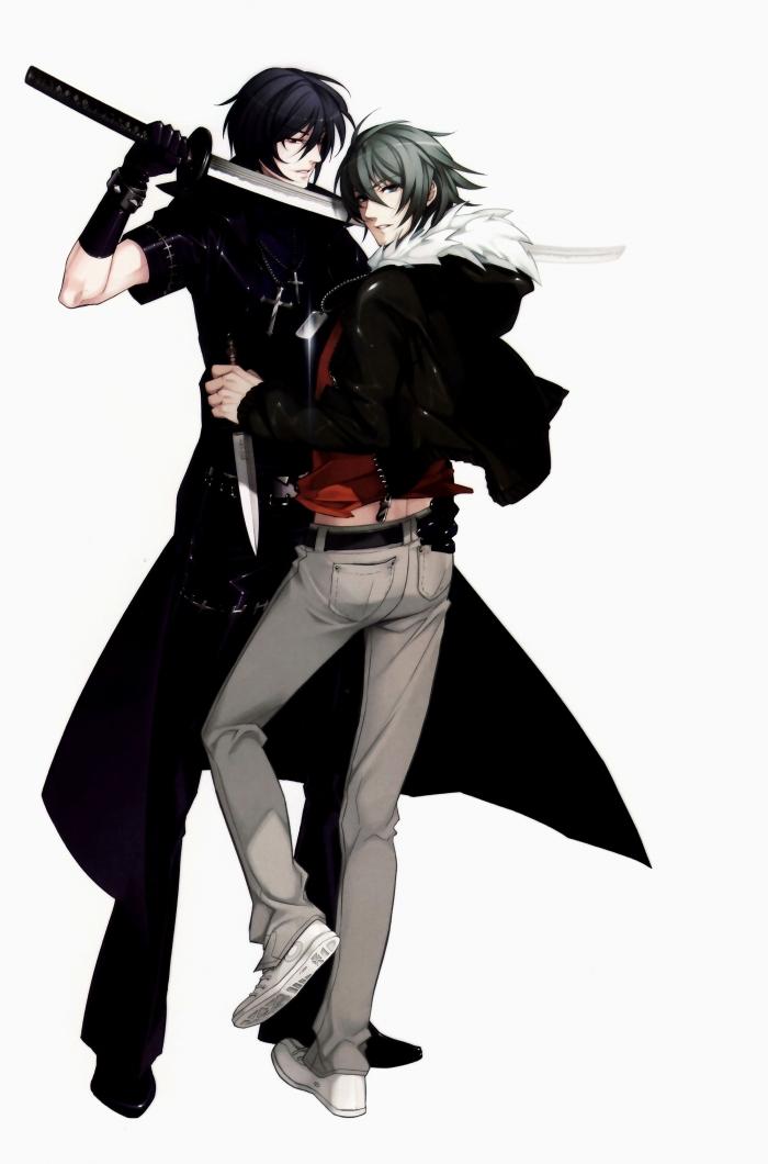 moe 109656 akira_(togainu_no_chi) kurahana_chinatsu male nitroplus_chiral shiki_(togainu_no_chi) sword togainu_no_chi